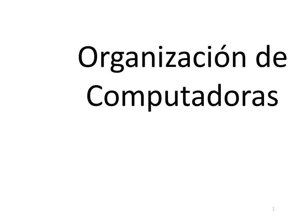 Organización de Computadoras 1