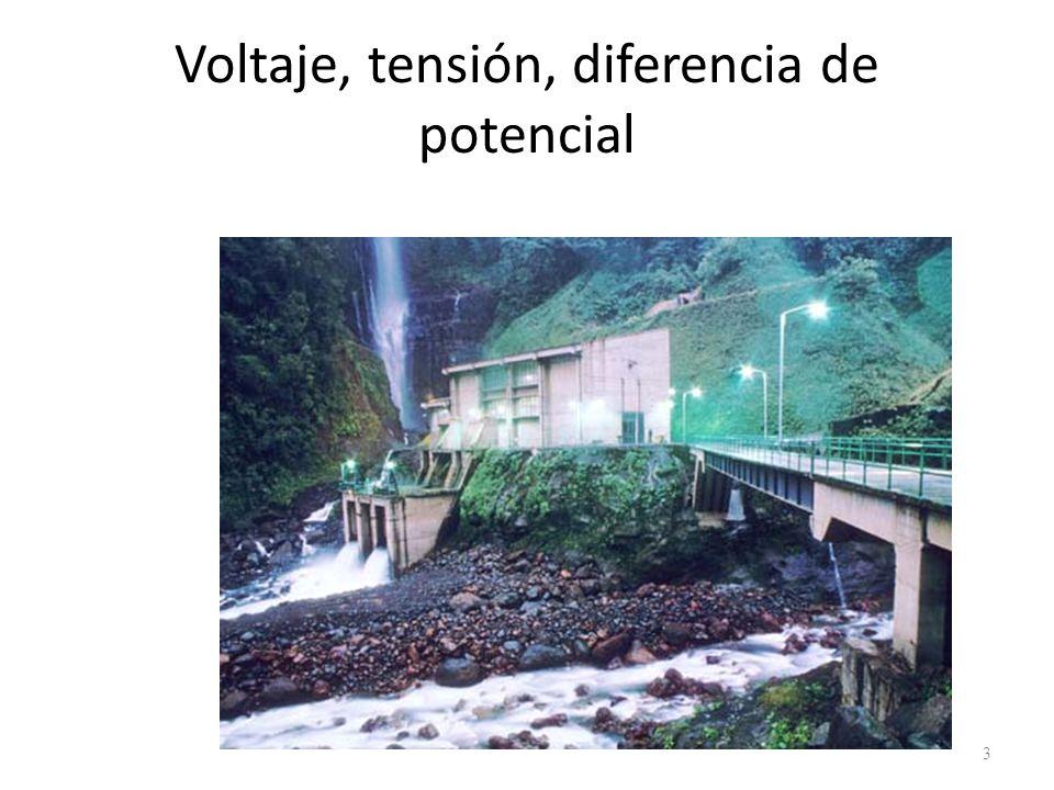 Voltaje, tensión, diferencia de potencial 3