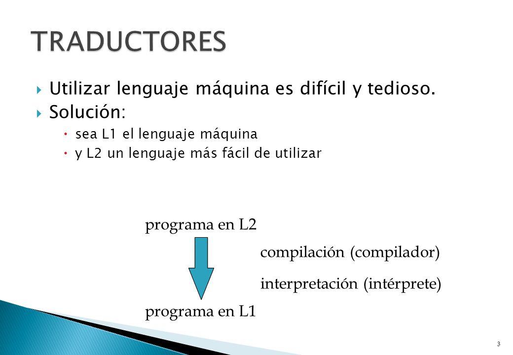 Se puede imaginar la existencia de una máquina virtual cuyo lenguaje máquina es L2.