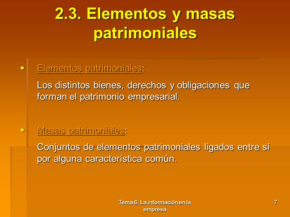 Tema 6.La información en la empresa 7 2.3.