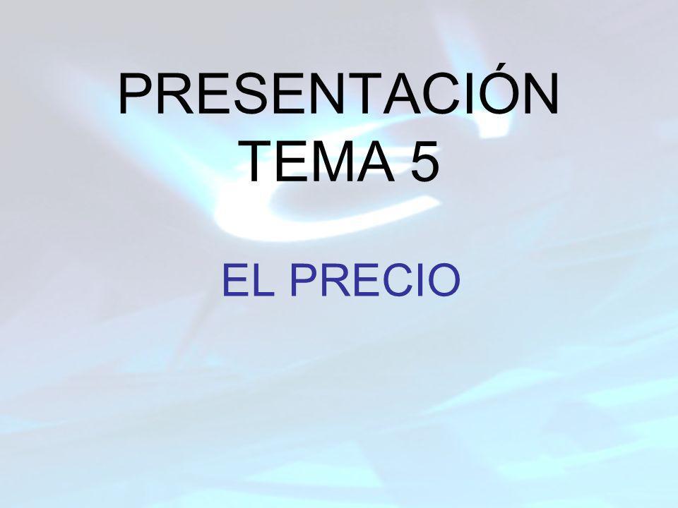 INDICE ¿QUÉ ES EL PRECIO?.CARACTERÍSTICAS DEL PRECIO.