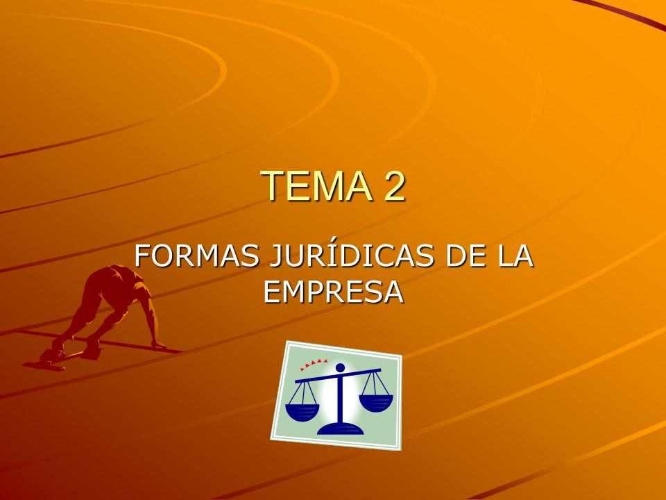 TEMA 2 FORMAS JURÍDICAS DE LA EMPRESA