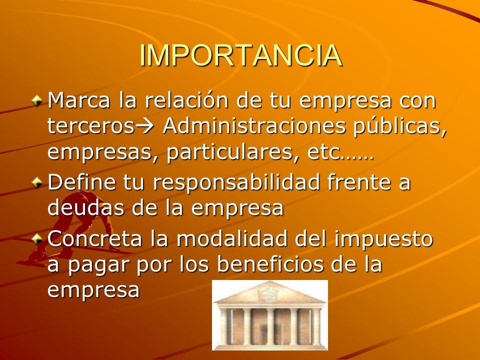 IMPORTANCIA Cotizarás a un régimen de la Seguridad Social concreto autónomos, general,..