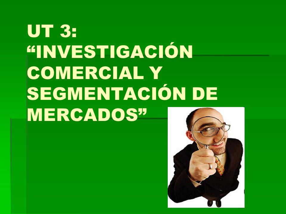 UT 3: INVESTIGACIÓN COMERCIAL Y SEGMENTACIÓN DE MERCADOS INTRODUCCIÓN : Importancia de las ventas en las empresas