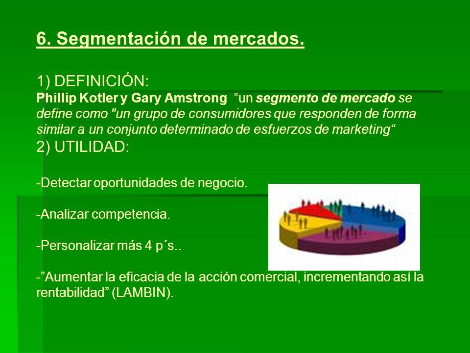 6.Segmentación de mercados.