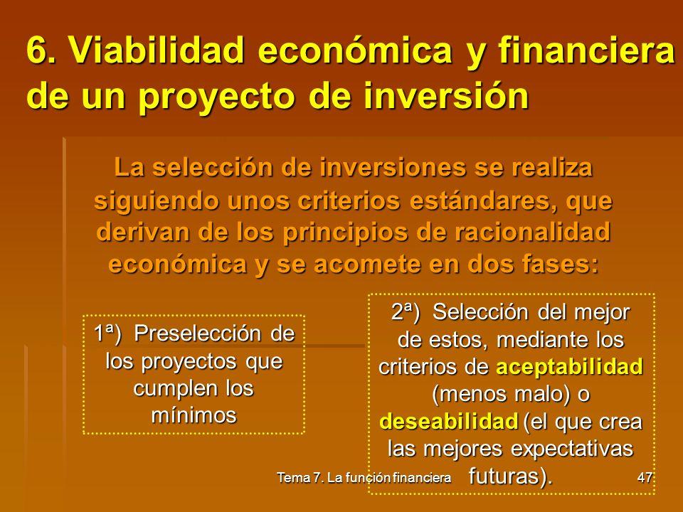 Tema 7. La función financiera46 Diferencias entre Leasing Financiero y el Operativo o Renting: Leasing : - Suelen haber 3 sujetos en la operación: fab