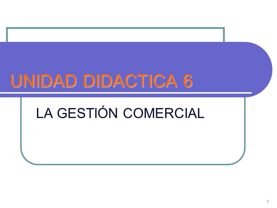 UNIDAD DIDACTICA 6 LA GESTIÓN COMERCIAL 1