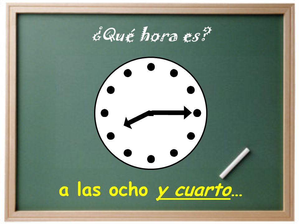 a las cinco y diez… ¿Qué hora es?