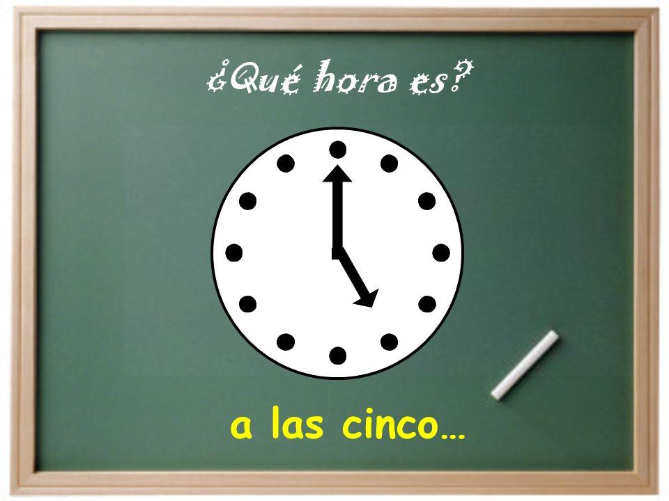a las diez… ¿A qué hora es?