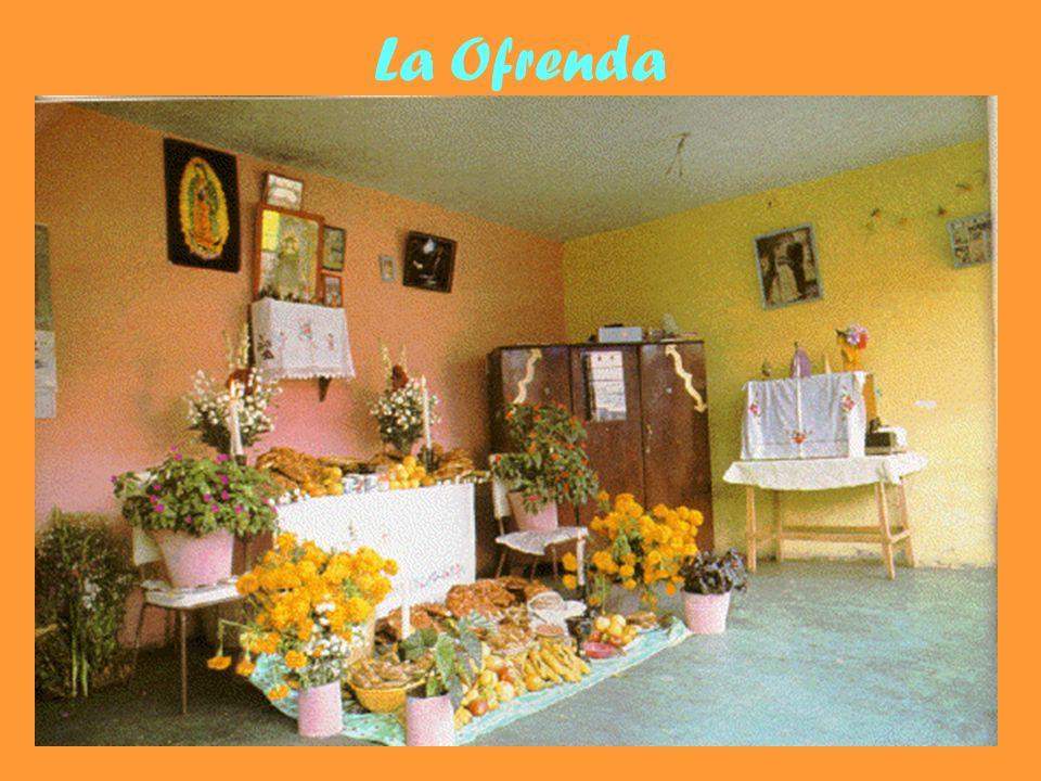La Ofrenda La ofrenda está hecha de 4 componentes: Tierra Viento Agua Fuego