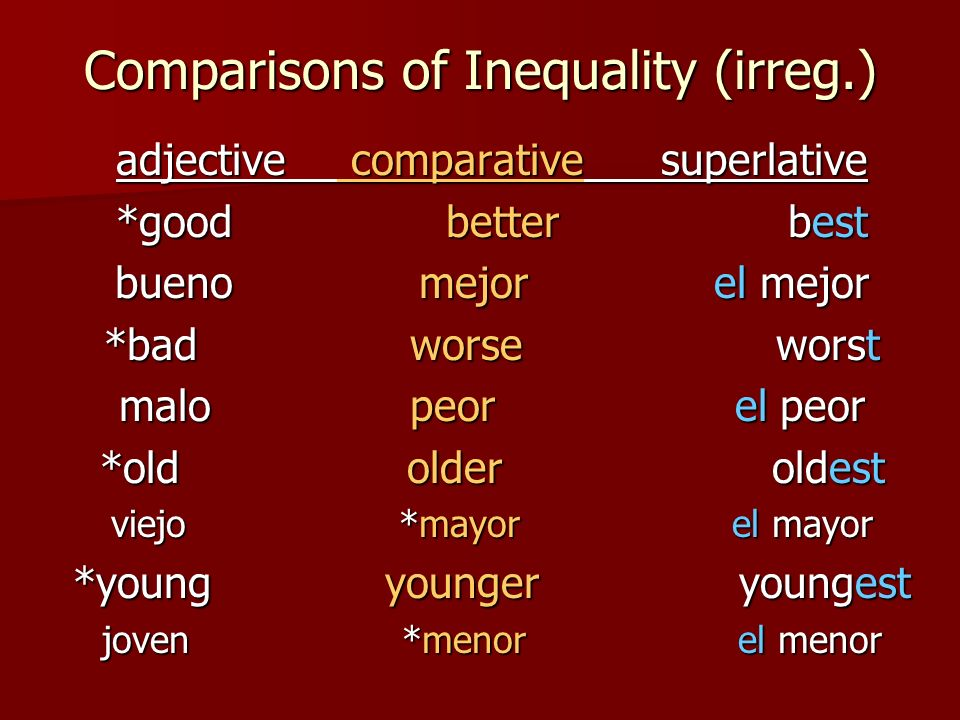 Comparisons of Equality tan + (adjective) + como tan + (adjective) + como ie…Paco es tan inteligente como Luisa.