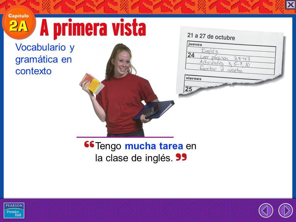 Estudio mucho en la clase de español.