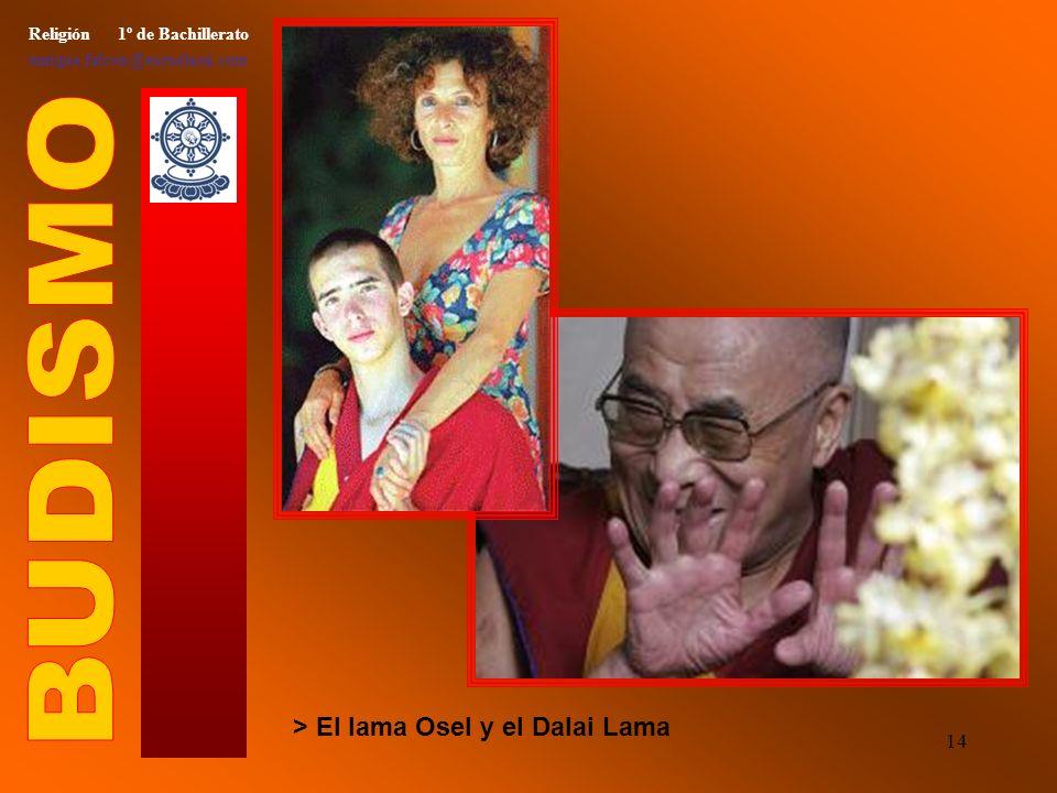 13 Religión 1º de Bachillerato enrique.falcon@escuelassj.com > Monjes budistas