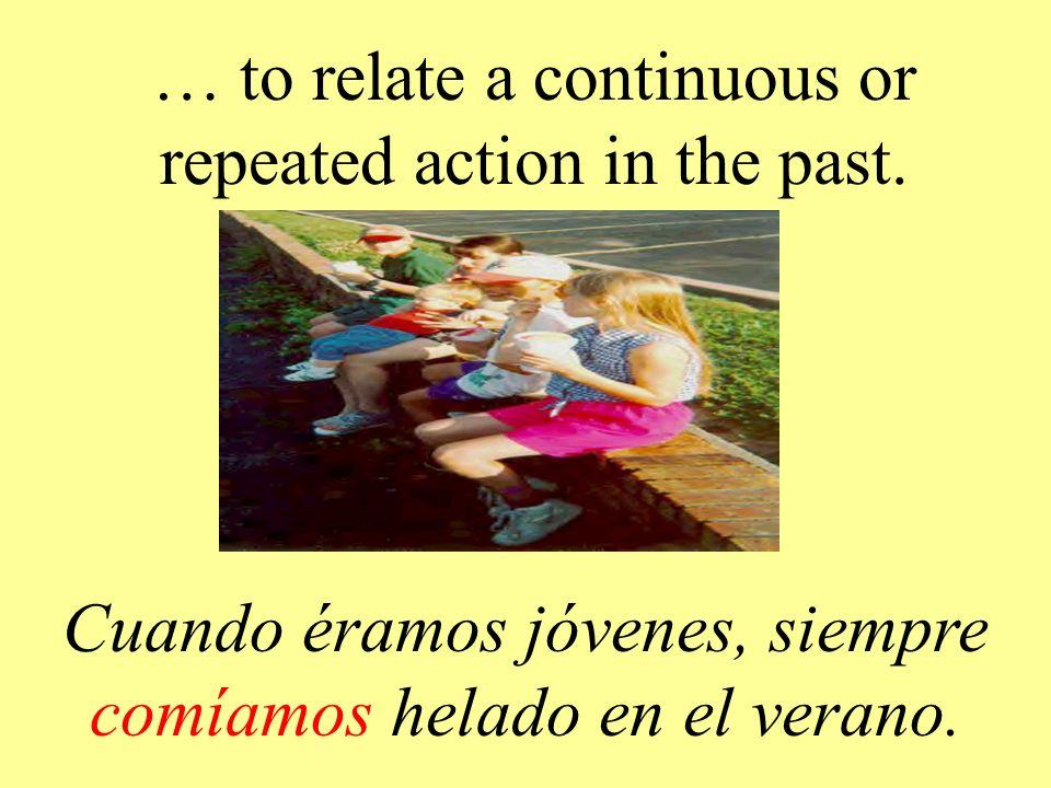 …to tell what used to happen in the past. Yo siempre practicaba el violín después de la cena.
