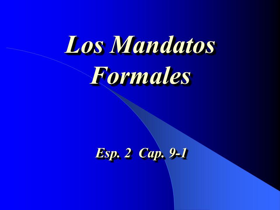 Los Mandatos Formales Esp. 2 Cap. 9-1