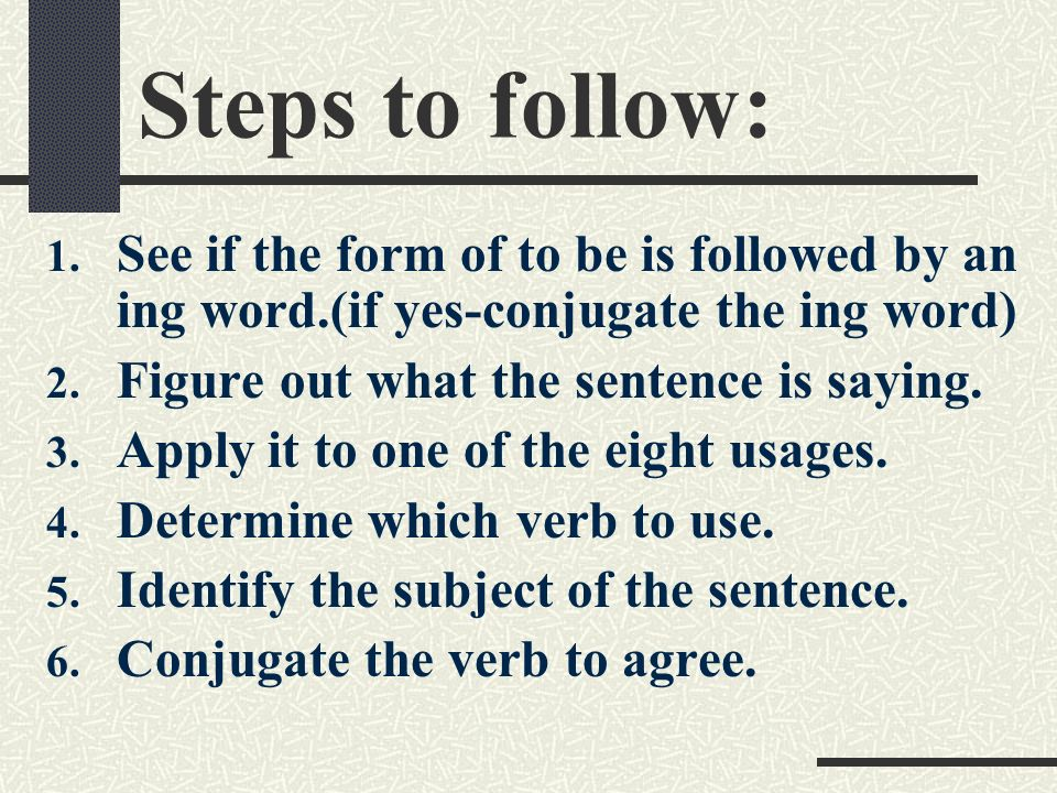 Steps to follow: 1.