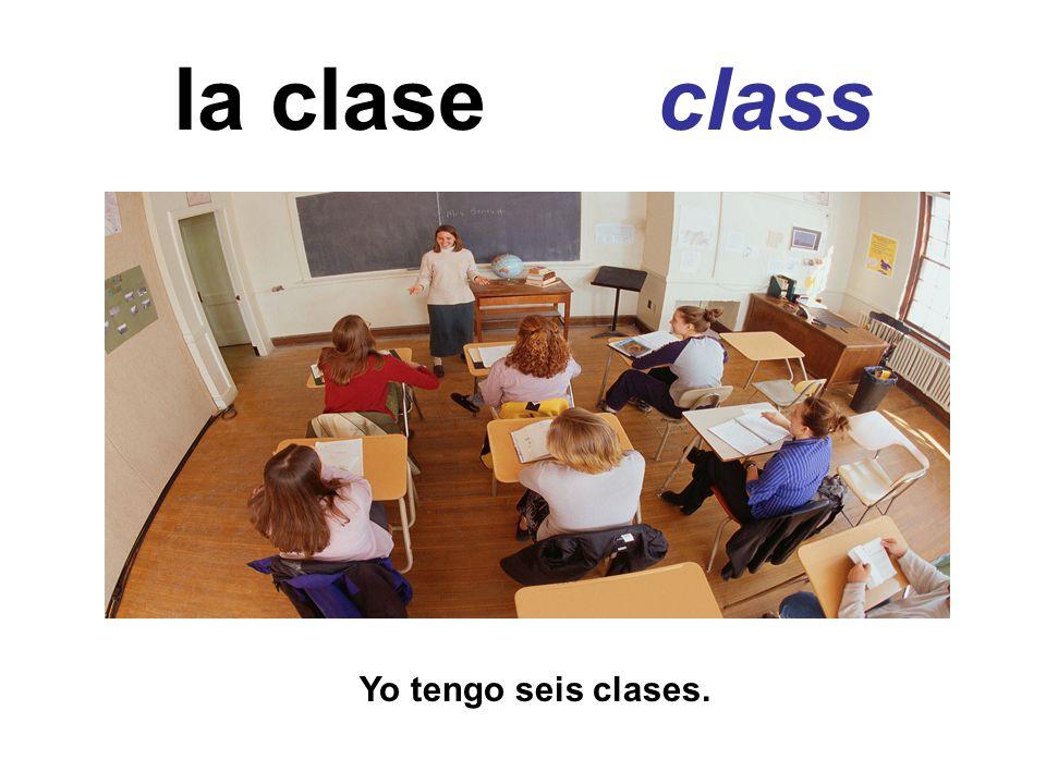 la clase de… …class Yo tengo almuerzo después de la clase de español.