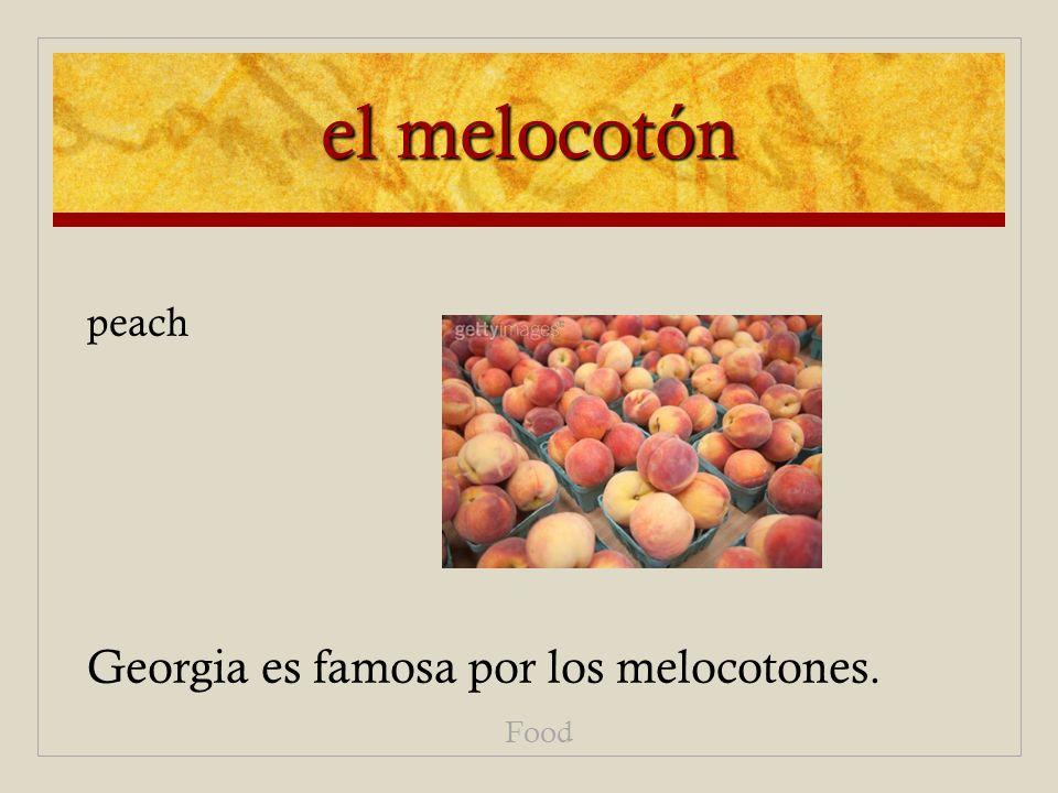 el melocotón Georgia es famosa por los melocotones. Food peach