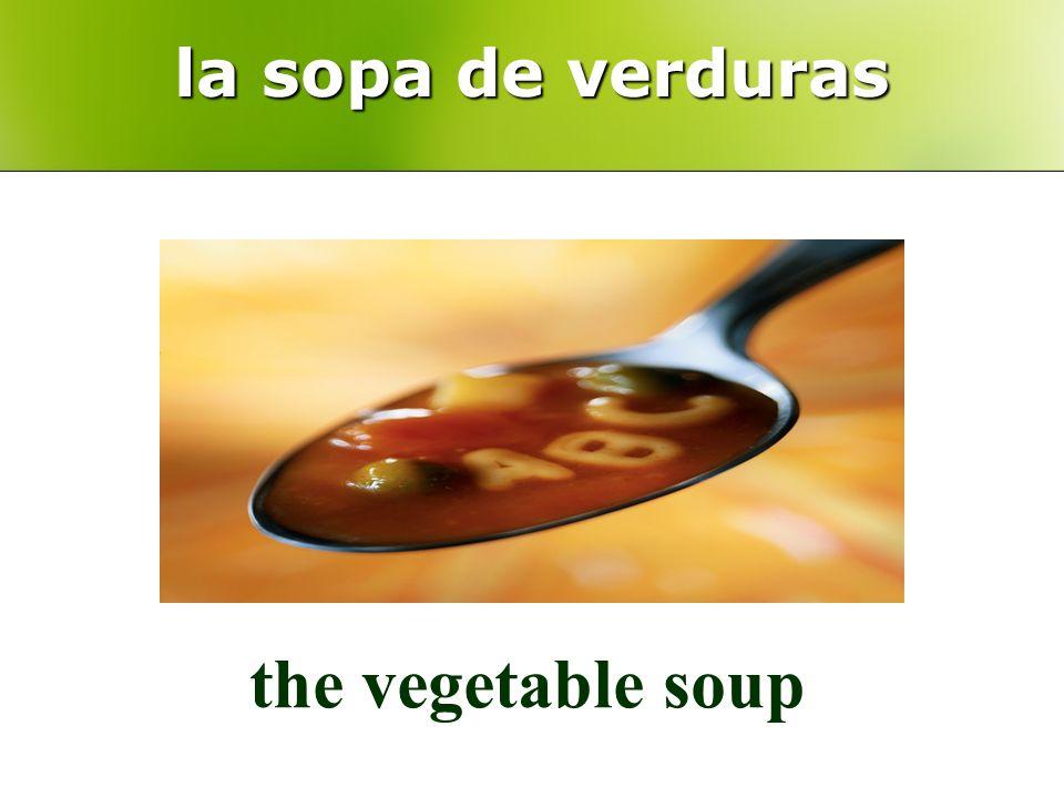 la sopa de verduras the vegetable soup