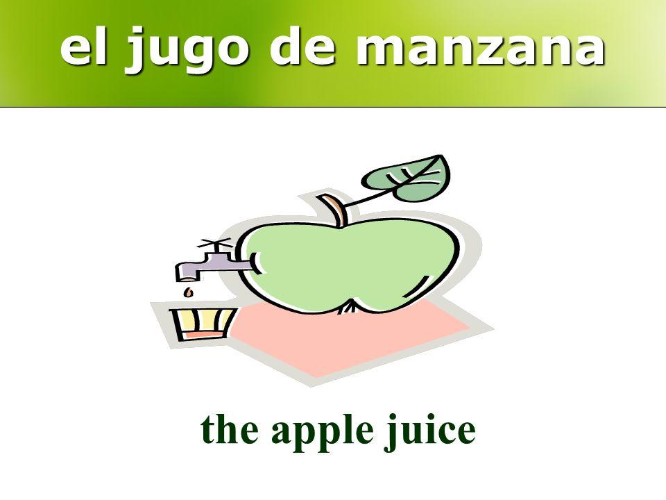 el jugo de manzana the apple juice