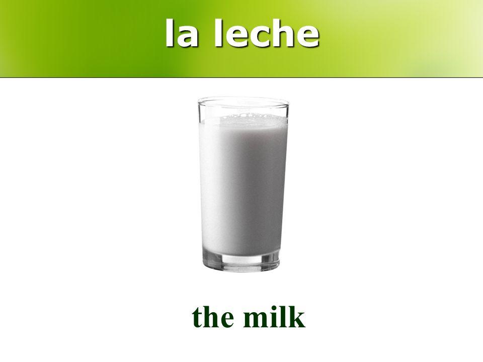 la leche the milk