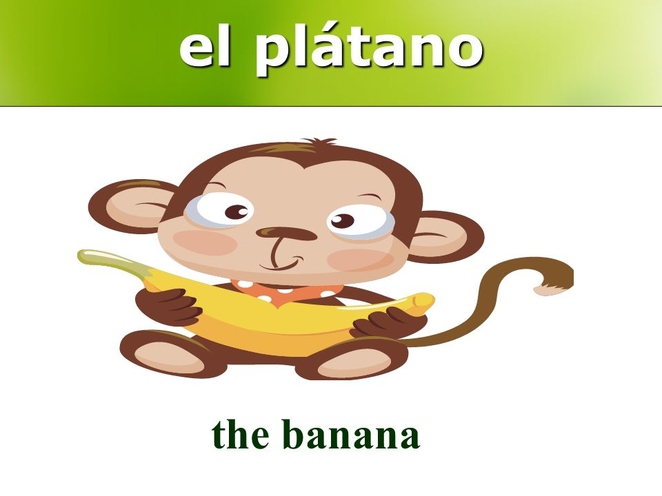 el plátano the banana