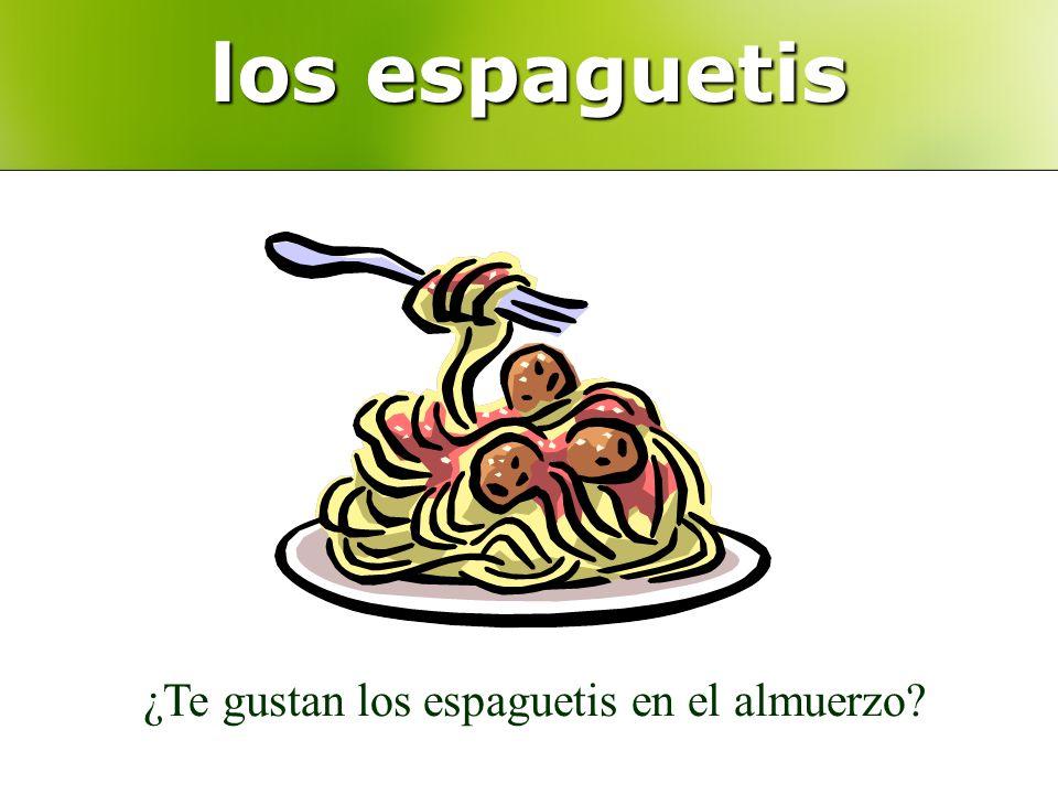 los espaguetis ¿Te gustan los espaguetis en el almuerzo?