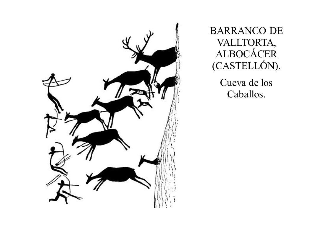 BARRANCO DE VALLTORTA, ALBOCÁCER (CASTELLÓN). Cueva de los Caballos.