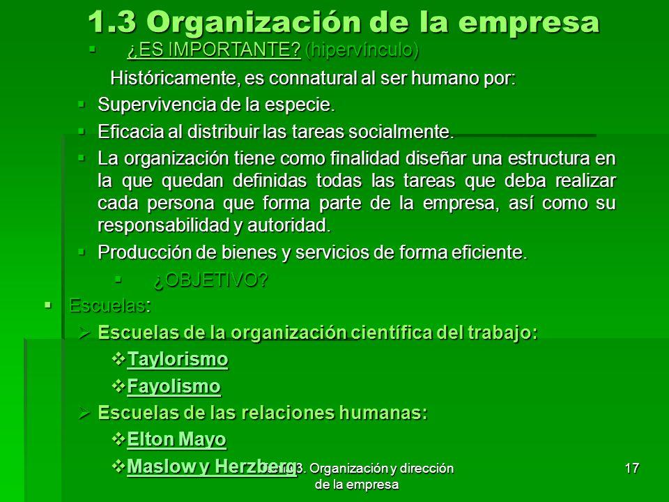 Tema 3. Organización y dirección de la empresa 16 1.2 Liderazgo (Modelo situacional de Hersey y Blanchard) Formas de ejercer el poder, según Daniel Go