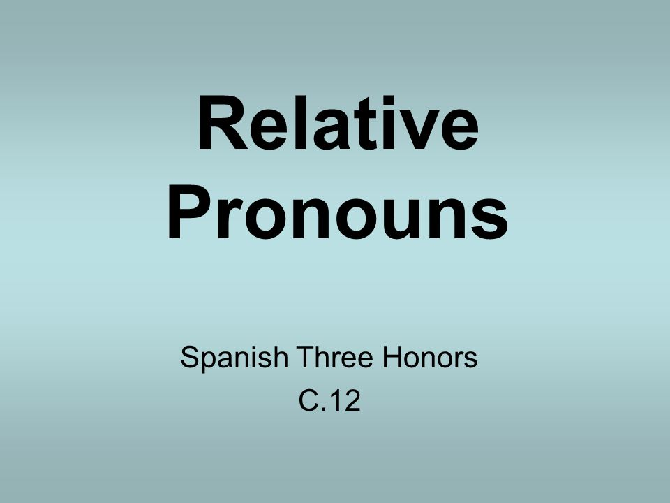 Definition: A Pronoun is a word that that the place of a noun.
