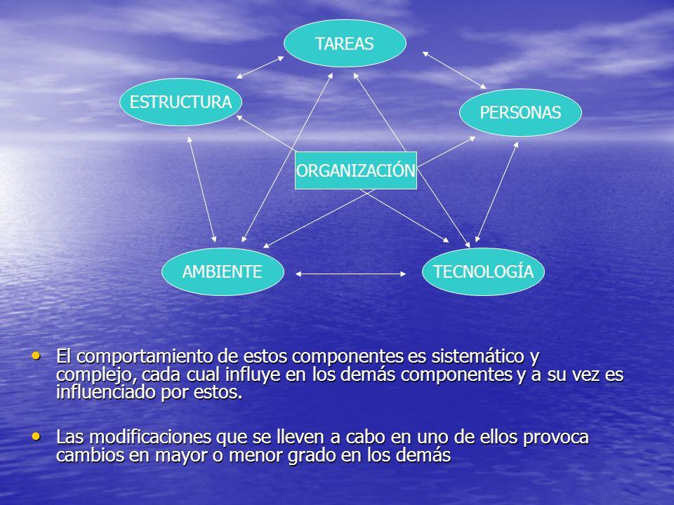 El comportamiento de estos componentes es sistemático y complejo, cada cual influye en los demás componentes y a su vez es influenciado por estos. El