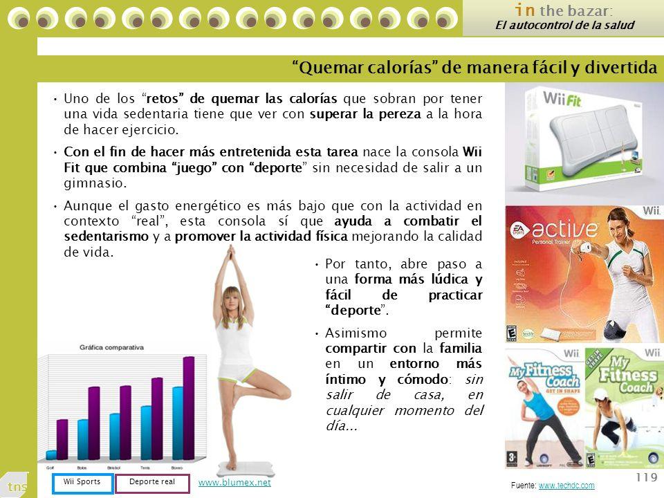 119 www.blumex.net Uno de los retos de quemar las calorías que sobran por tener una vida sedentaria tiene que ver con superar la pereza a la hora de hacer ejercicio.