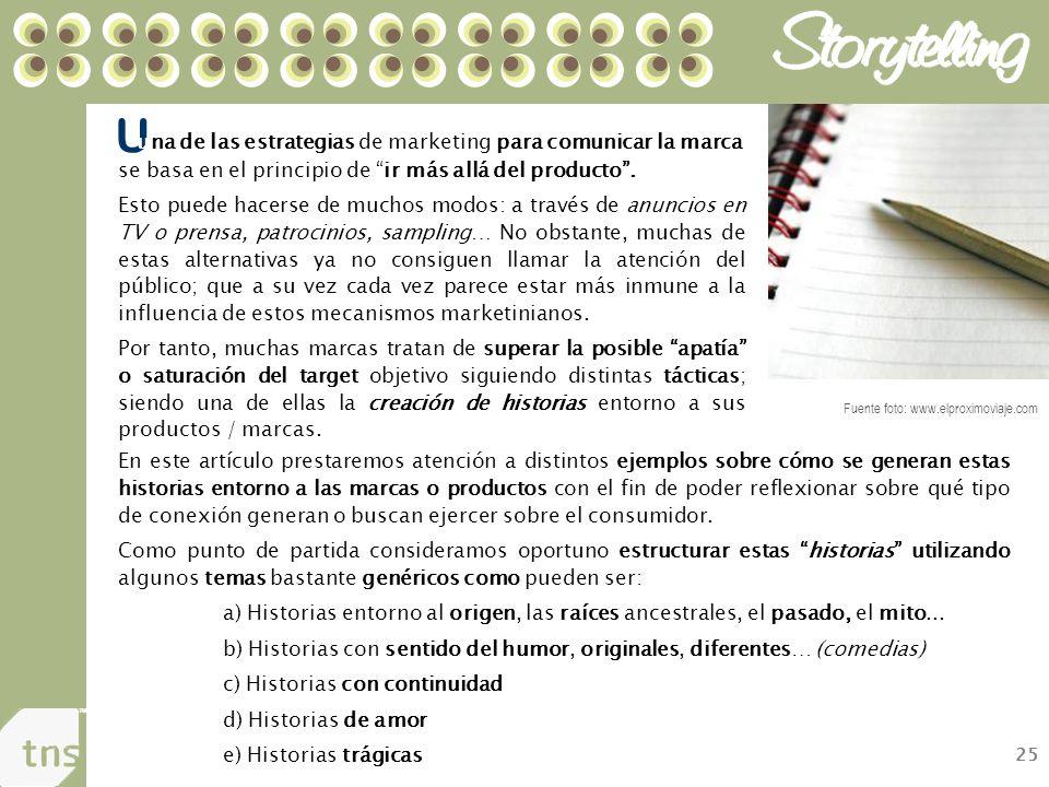 25 U una de las estrategias de marketing para comunicar la marca se basa en el principio de ir más allá del producto.