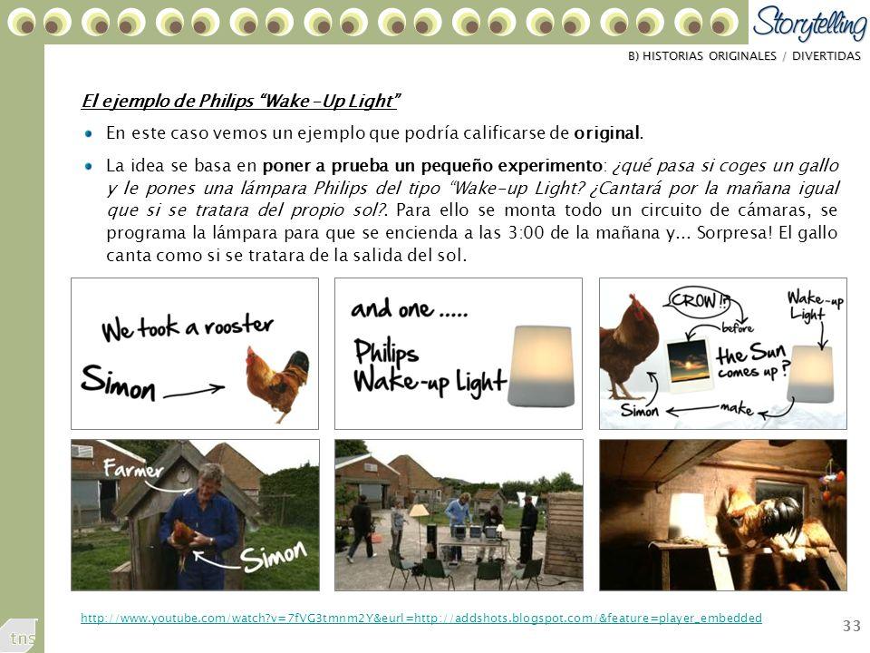 33 El ejemplo de Philips Wake –Up Light En este caso vemos un ejemplo que podría calificarse de original.