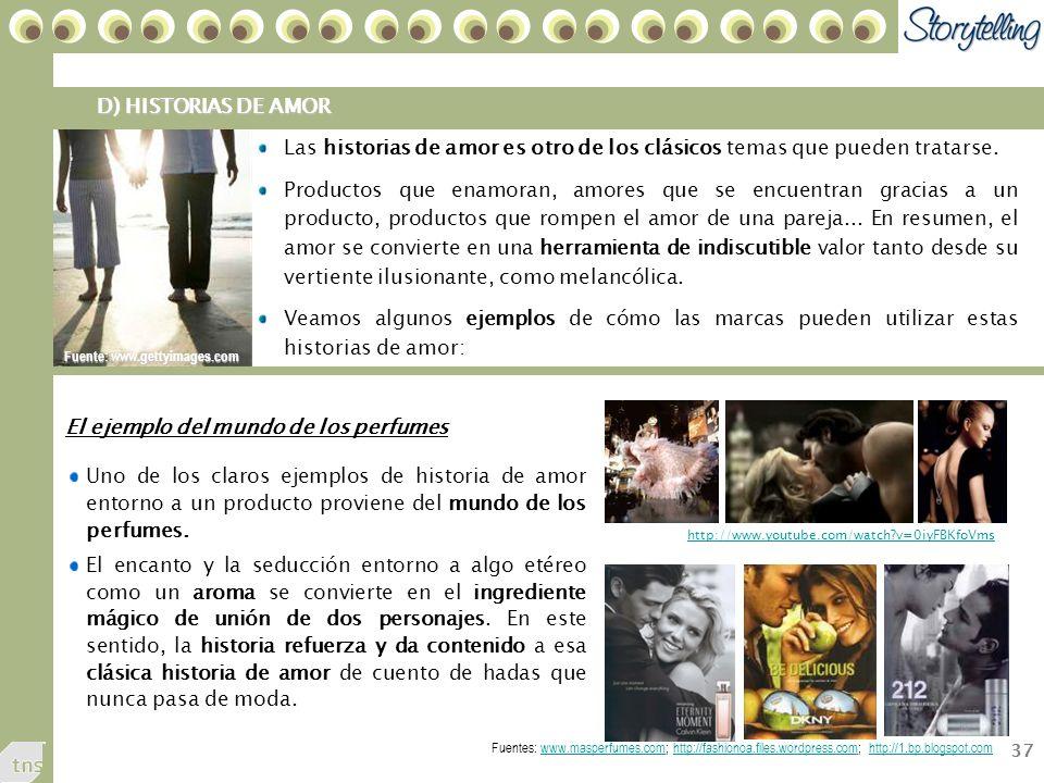 37 D) HISTORIAS DE AMOR Las historias de amor es otro de los clásicos temas que pueden tratarse.