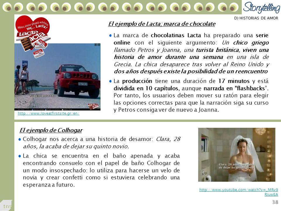 38 D) HISTORIAS DE AMOR Colhogar nos acerca a una historia de desamor: Clara, 28 años, la acaba de dejar su quinto novio.