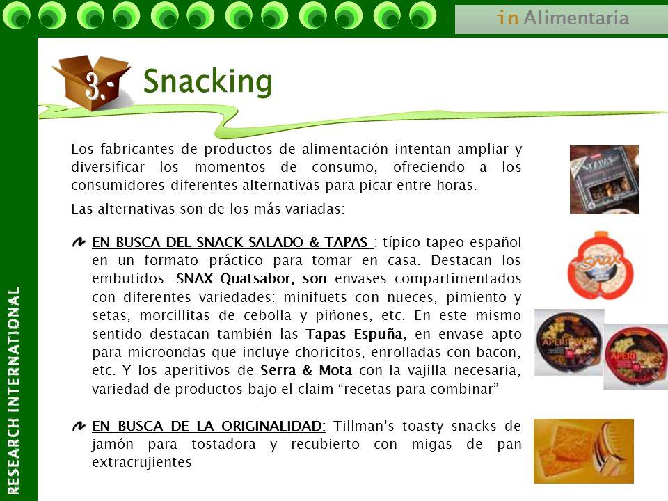in Alimentaria Los fabricantes de productos de alimentación intentan ampliar y diversificar los momentos de consumo, ofreciendo a los consumidores dif