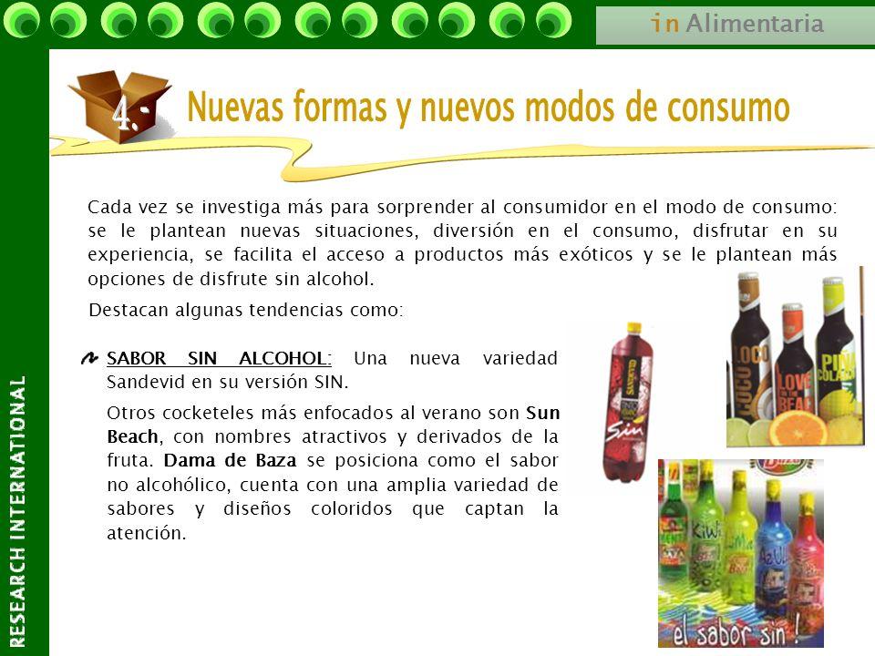 in Alimentaria Cada vez se investiga más para sorprender al consumidor en el modo de consumo: se le plantean nuevas situaciones, diversión en el consu