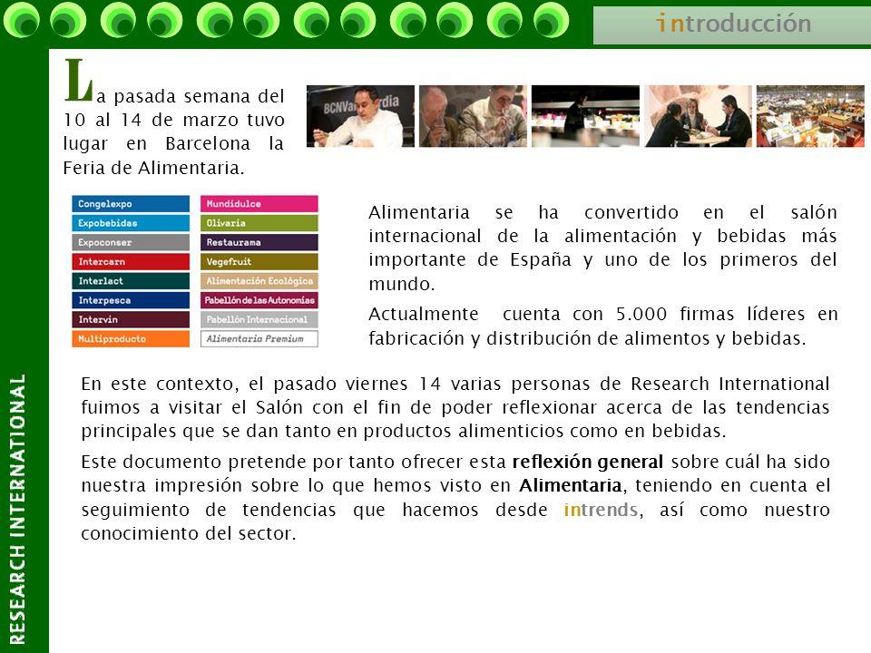 in troducción a pasada semana del 10 al 14 de marzo tuvo lugar en Barcelona la Feria de Alimentaria. Alimentaria se ha convertido en el salón internac