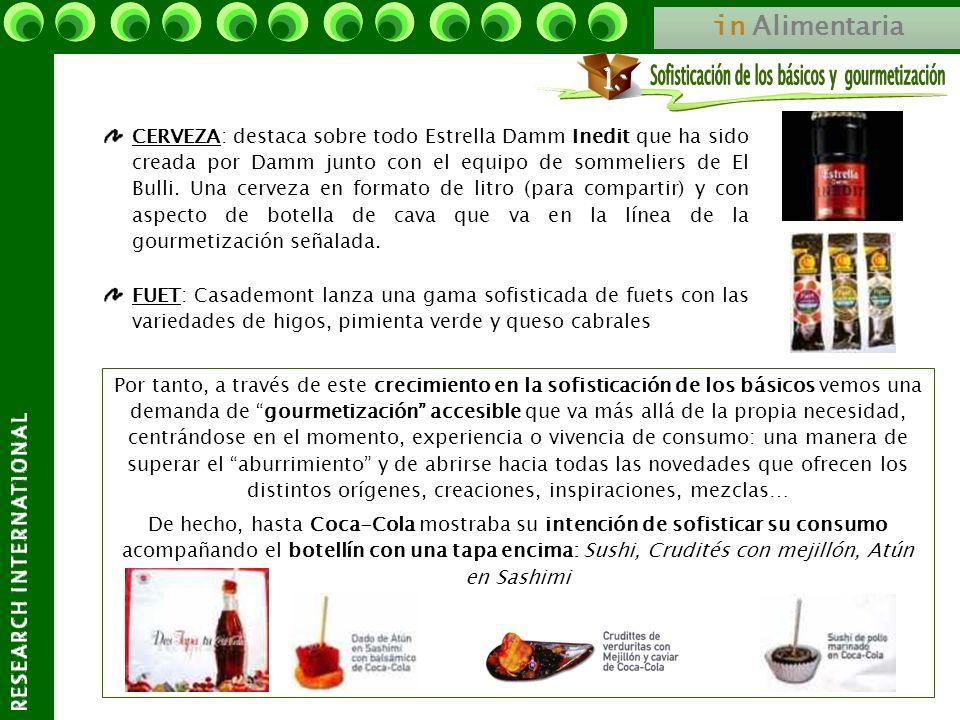 in Alimentaria FUET: Casademont lanza una gama sofisticada de fuets con las variedades de higos, pimienta verde y queso cabrales CERVEZA: destaca sobr