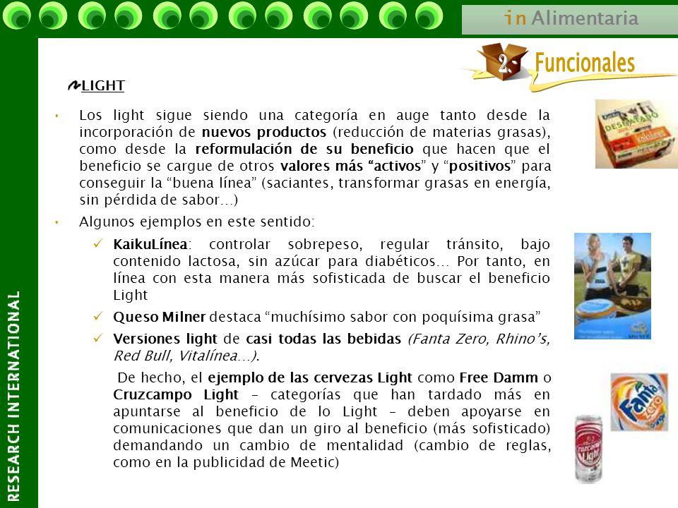in Alimentaria LIGHT Los light sigue siendo una categoría en auge tanto desde la incorporación de nuevos productos (reducción de materias grasas), com
