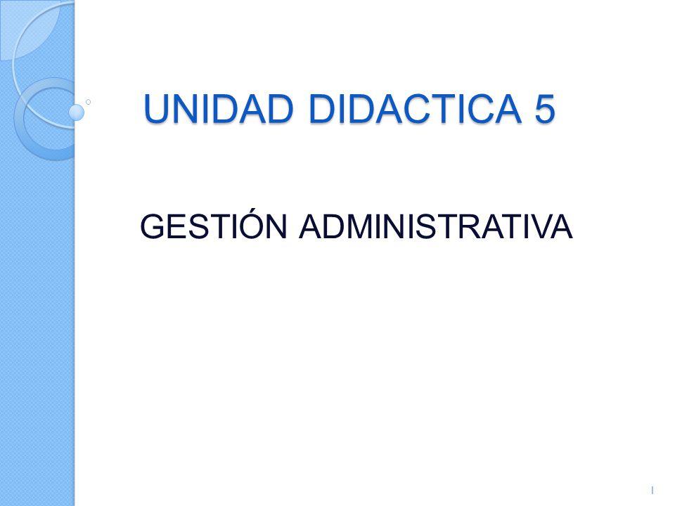 UNIDAD DIDACTICA 5 GESTIÓN ADMINISTRATIVA 1