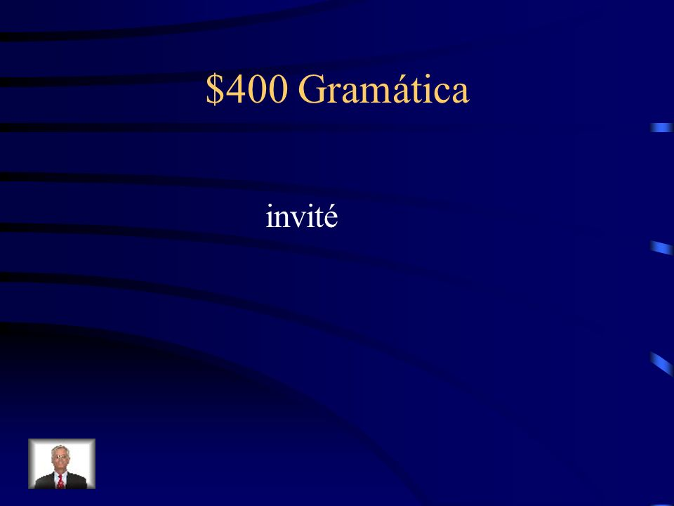 $400 Gramática Fill in the blank with the correct preterite form of the verb in parenthesis. Yo ________ (invitar) mis amigos a la fiesta.