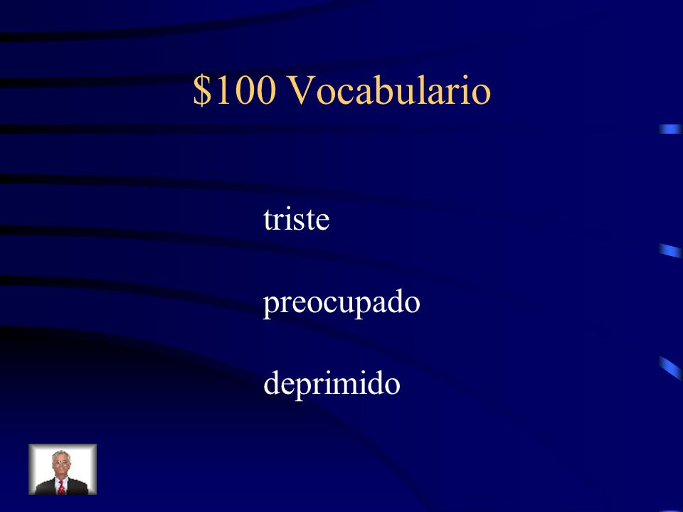Final Jeopardy Answer Abrir – to open Ir – to go hacer – to do; to make abrí abrimos fui fuimos hice hicimos abriste abristeis fuiste fuisteis hiciste hicisteis abrió abrieron fue fueron hizo hicieron
