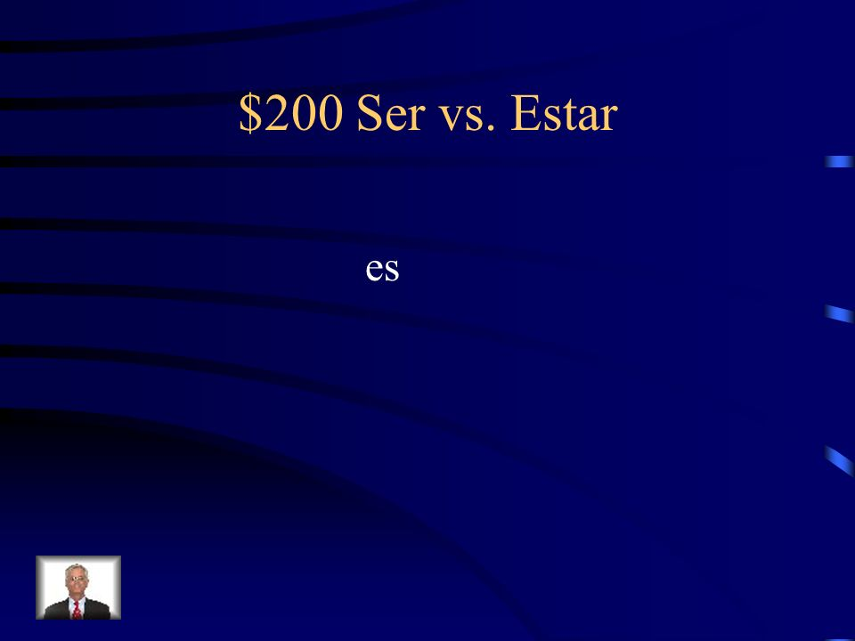 $200 Ser vs. Estar Fill-in-the-blank with the correct form of Ser or Estar. Mi apartamento _________ muy grande.
