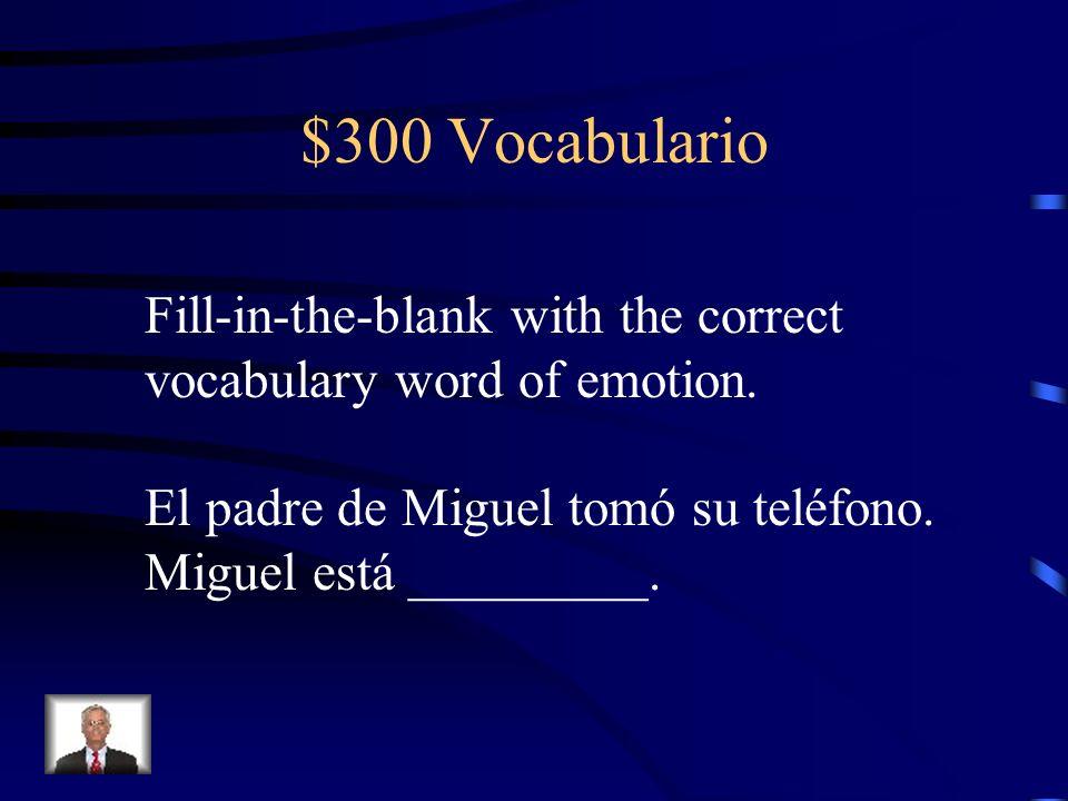 $300 Calendario What is the Spanish translation of last night?