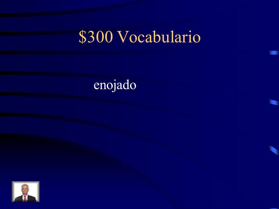 $300 Vocabulario enojado