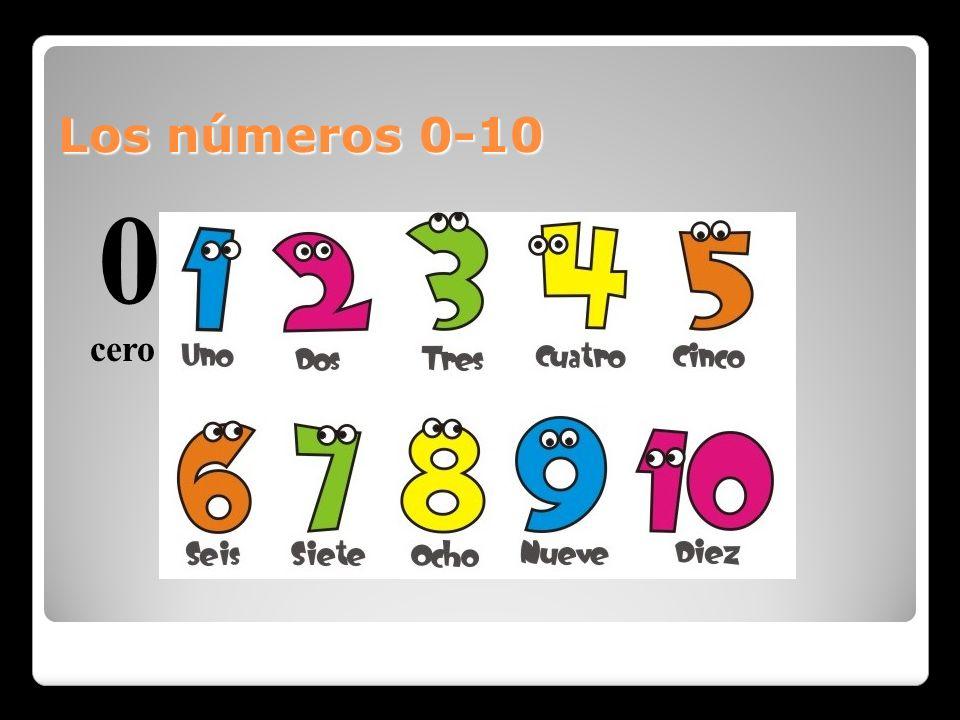 Los números 0-10 0 cero