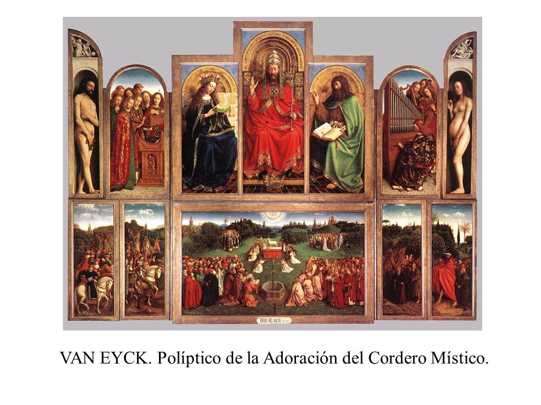 VAN EYCK. Políptico de la Adoración del Cordero Místico.