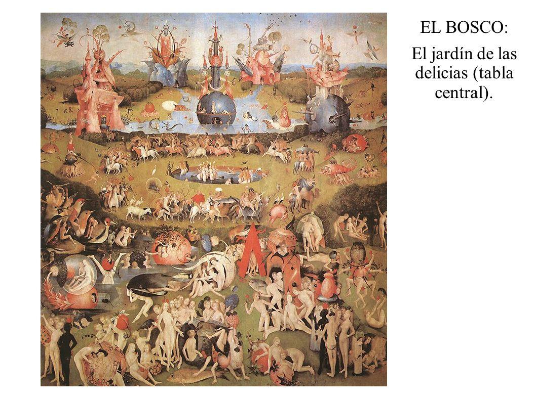 EL BOSCO: El jardín de las delicias (tabla central).